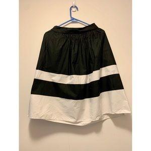 Zara - Black & White Stripes Skirt - Size S